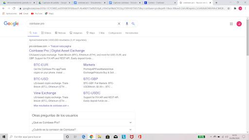coinbasepro google