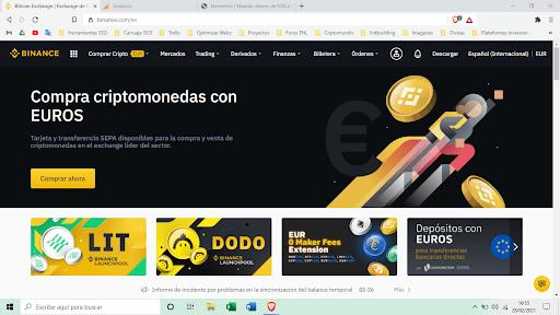 pagina de binance para comprar criptomonedas
