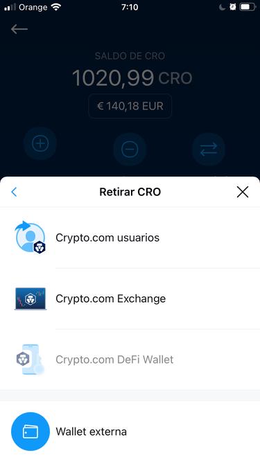 retirar dinero a crypto com exchange